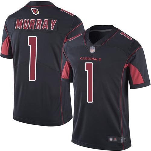 #1 Limited Kyler Murray Black Football Men's Jersey Arizona Cardinals Rush Vapor Untouchable