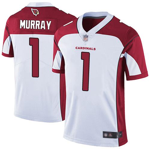 #1 Limited Kyler Murray White Football Road Men's Jersey Arizona Cardinals Vapor Untouchable