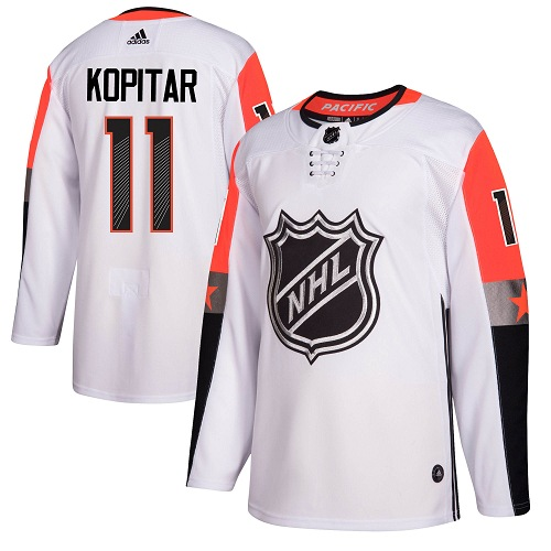 #11 Anze Kopitar White Adidas NHL Men's Jersey Los Angeles Kings 2018 All-Star Pacific Division