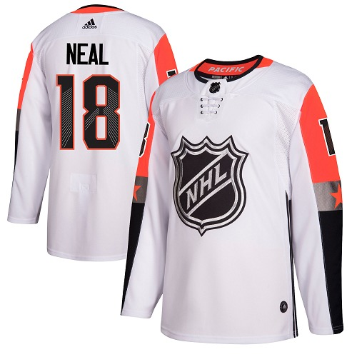 #18 James Neal White Adidas NHL Men's Jersey Vegas Golden Knights 2018 All-Star Pacific Division