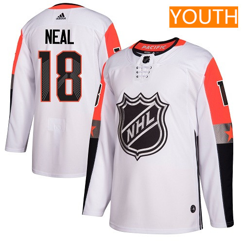 #18 James Neal White Adidas NHL Youth Jersey Vegas Golden Knights 2018 All-Star Pacific Division