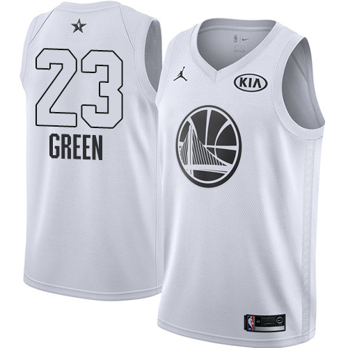 #23 Swingman Draymond Green White Nike Jordan NBA Men's Jersey Golden State Warriors 2018 All-Star Game