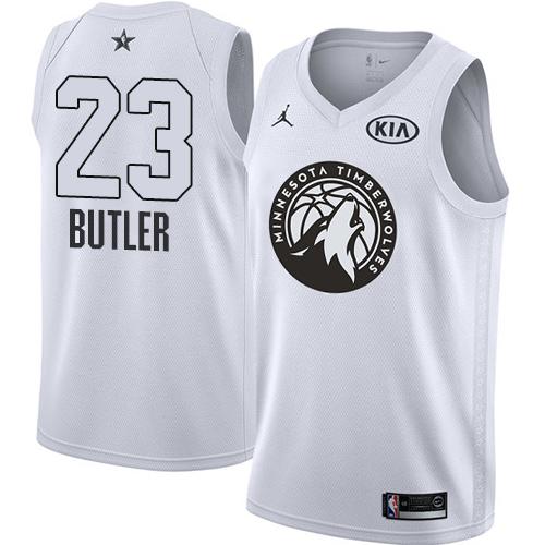 #23 Swingman Jimmy Butler White Nike Jordan NBA Men's Jersey Minnesota Timberwolves 2018 All-Star Game