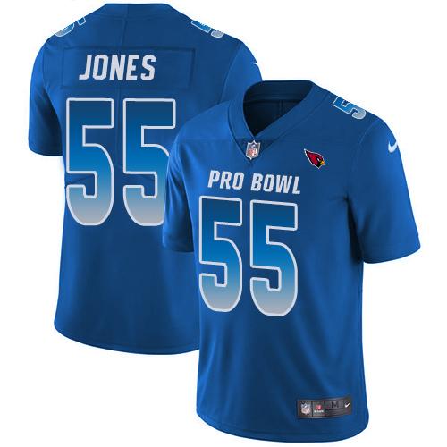 #55 Chandler Jones Royal Blue Nike NFL Game Men's Jersey Arizona Cardinals 2018 Pro Bowl