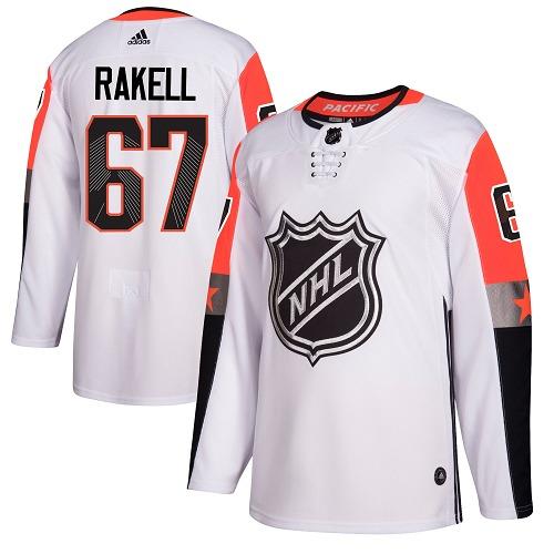#67 Rickard Rakell White Adidas NHL Men's Jersey Anaheim Ducks 2018 All-Star Pacific Division