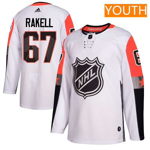 #67 Rickard Rakell White Adidas NHL Youth Jersey Anaheim Ducks 2018 All-Star Pacific Division