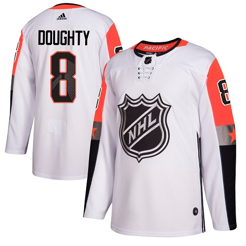 #8 Drew Doughty White Adidas NHL Men's Jersey Los Angeles Kings 2018 All-Star Pacific Division