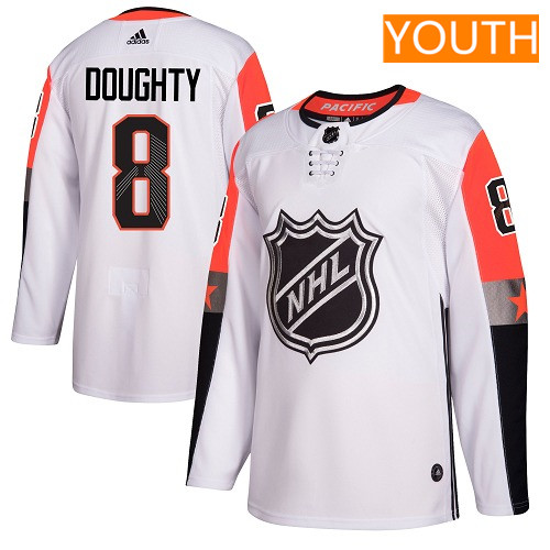 #8 Drew Doughty White Adidas NHL Youth Jersey Los Angeles Kings 2018 All-Star Pacific Division