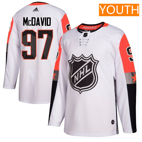 #97 Connor McDavid White Adidas NHL Youth Jersey Edmonton Oilers 2018 All-Star Pacific Division