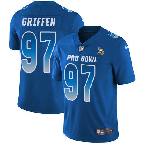 #97 Everson Griffen Royal Blue Nike NFL Game Men's Jersey Minnesota Vikings 2018 Pro Bowl