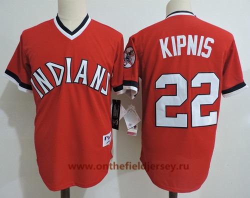 Men's Cleveland Indians #22 Jason Kipnis Red Pullover Cooperstown Collection Stitched MLB Majestic Cool Base Jersey