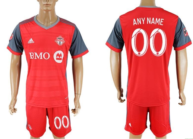 2017-18 Toronto FC Custom Home Red Men's Soccer Shirt Kit