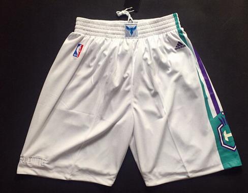 Men's Charlotte Hornets White Swingman Shorts
