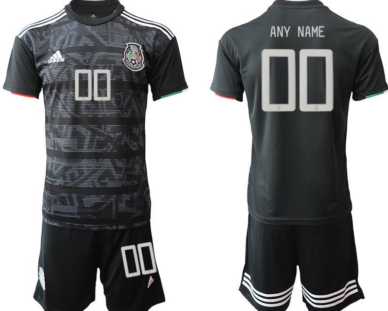 Custom 2019 Gold Cup Mexico National Team Black Men's Soccer Shirt Kit