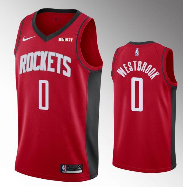 Men's Houston Rockets #0 Russell Westbrook 2019-20 Red Nike Swingman Stitched NBA Jersey