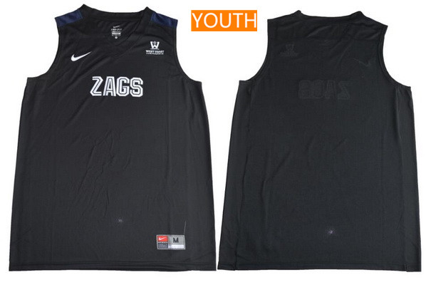 Youth Gonzaga Bulldogs Custom College Basketball Nike Jersey - Black