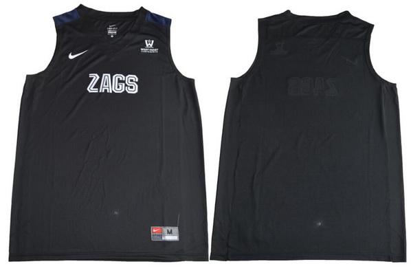 Men's Gonzaga Bulldogs Custom College Basketball Nike Jersey - Black