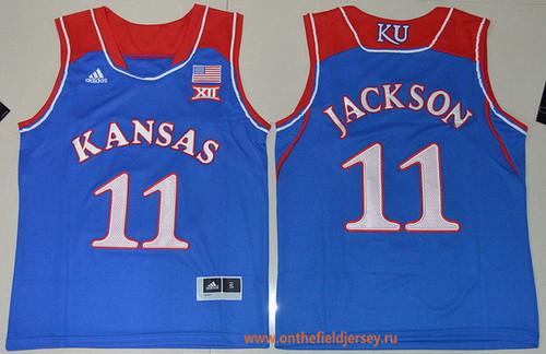 Youth Kansas Jayhawks #11 Josh Jackson Royal Blue College Basketball adidas Swingman Stitched NCAA Jersey