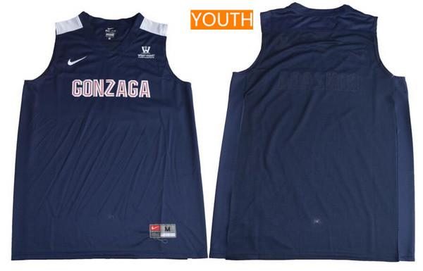 Youth Gonzaga Bulldogs Custom College Basketball Nike Jersey - Navy Blue