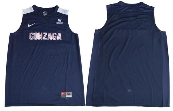Men's Gonzaga Bulldogs Custom College Basketball Nike Jersey - Navy Blue