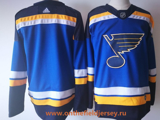 Men's St. Louis Blues Blank Blue Home 2017-2018 Adidas Hockey Stitched NHL Jersey