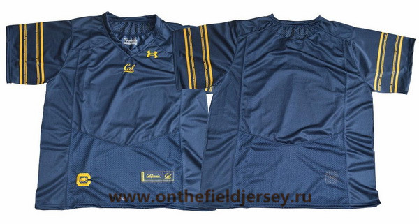Men's California Golden Bears Blank Navy Blue 2017 Cal College Football Stitched Under Armour NCAA Jersey