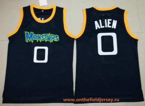 Men's The Movie Monstars #0 Alien Navy Blue Soul Swingman Basketball Jersey