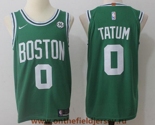 Men's Boston Celtics #0 Jayson Tatum Green 2017-2018 Nike Swingman General Electric Stitched NBA Jersey