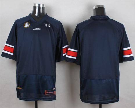 Men's Auburn Tigers Blank Navy Blue College Football Under Armour Jersey