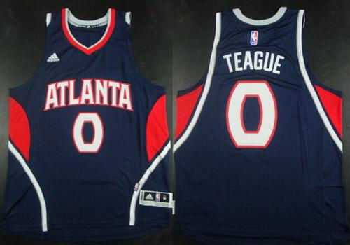 Men's Atlanta Hawks #0 Jeff Teague Revolution 30 Swingman 2014 New Red Jersey