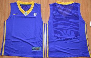 Youth LSU Tigers Blank Purple College Basketball Nike Jersey