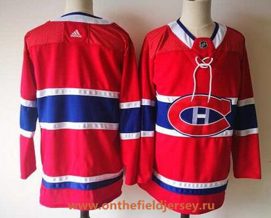 Men's Montreal Canadiens Blank Red Home 2017-2018 Adidas Hockey Stitched NHL Jersey