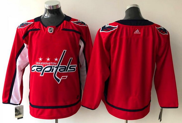 Men's Washington Capitals Blank Red Home Stitched Adidas NHL Jersey