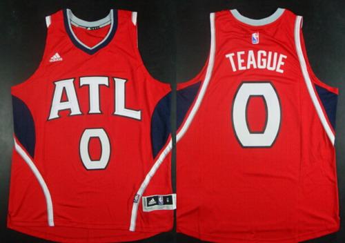 Men's Atlanta Hawks #0 Jeff Teague Revolution 30 Swingman 2014 New Navy Blue Jersey