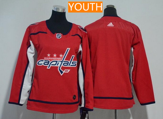 Youth Washington Capitals Blank Red Home Stitched Adidas NHL Jersey