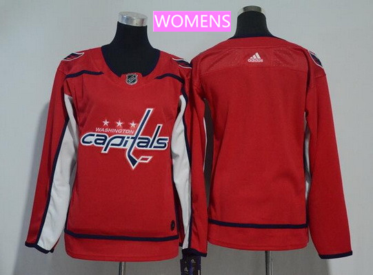 Women's Washington Capitals Blank Red Home Stitched Adidas NHL Jersey
