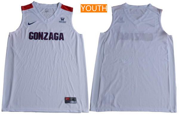 Youth Gonzaga Bulldogs Custom College Basketball Nike Jersey - White