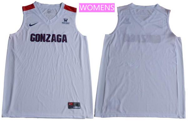 Women's Gonzaga Bulldogs Custom College Basketball Nike Jersey - White
