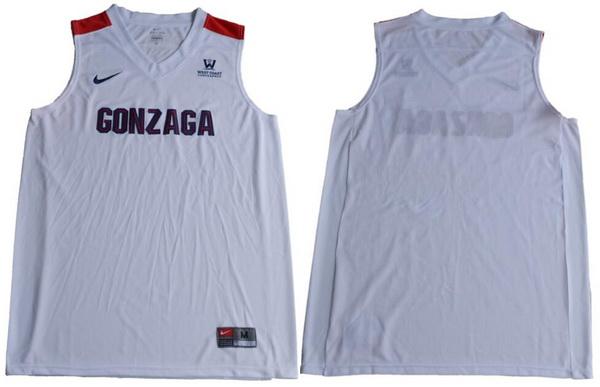 Men's Gonzaga Bulldogs Custom College Basketball Nike Jersey - White