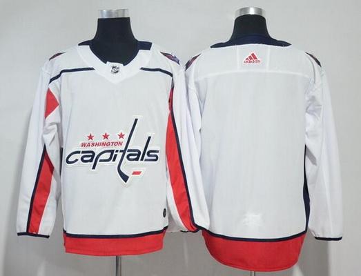 Men's Washington Capitals Blank White Away Stitched Adidas NHL Jersey