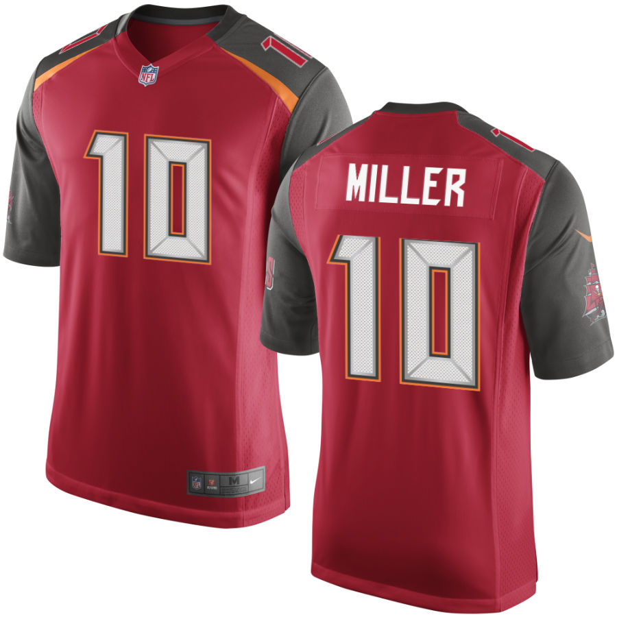 Men's Tampa Bay Buccaneers #10 Scott Miller Red Stitched NFL Nike Game Jersey