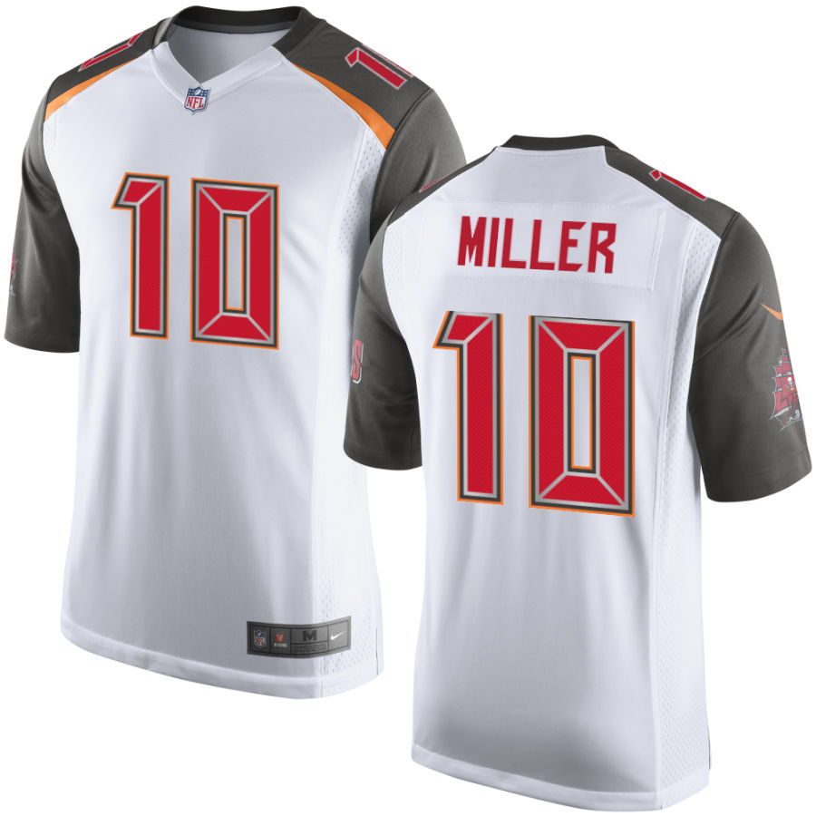 Men's Tampa Bay Buccaneers #10 Scott Miller White Road Stitched NFL Nike Game Jersey