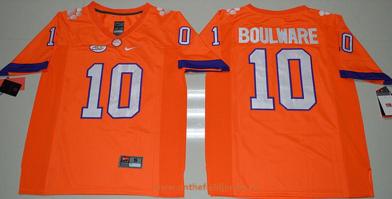 Men's Clemson Tigers #10 Ben Boulware Orange Limited Stitched College Football 2016 Nike NCAA Jersey