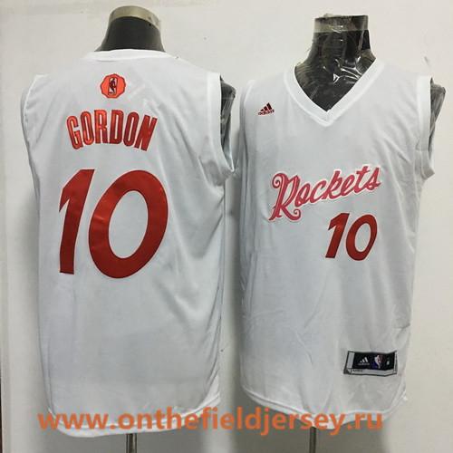Men's Houston Rockets #10 Eric Gordon adidas White 2016 Christmas Day Stitched NBA Swingman Jersey