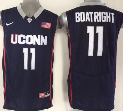 Men's Connecticut Huskies #11 Ryan Boatright Navy Blue College Basketball Nike Jersey