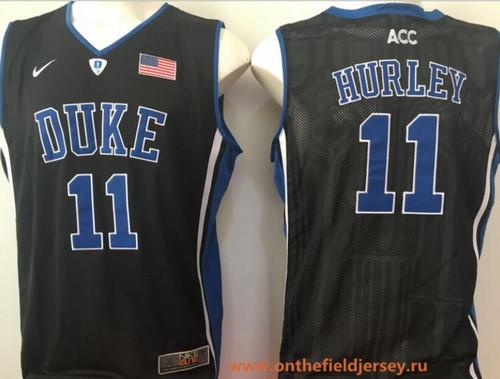 Men's Duke Blue Devils #11 Bobby Hurley Black College Basketball Stitched Nike Swingman Jersey
