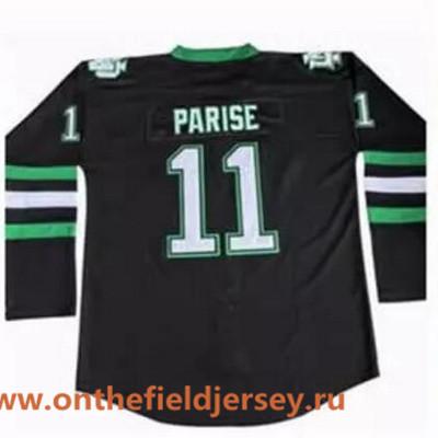 Men's North Dakota Fighting Sioux #11 Zach Parise Black Stitched College Ice Hockey Jersey