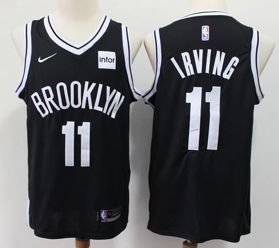 Men's Brooklyn Nets #11 Kyrie Irving Black Nike Swingman Stitched NBA Jersey