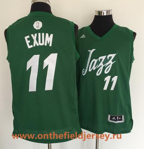 Men's Utah Jazz #11 Dante Exum adidas Green 2016 Christmas Day Stitched NBA Swingman Jersey