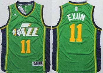 Utah Jazz #11 Dante Exum Revolution 30 Swingman New Green Jersey